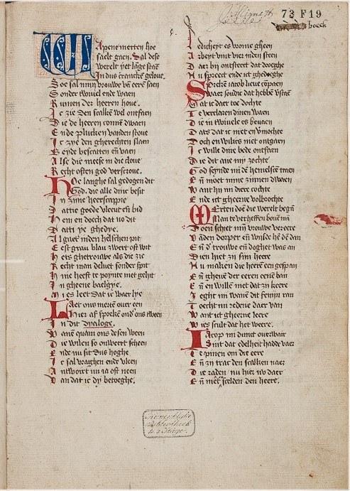 LMB GW Medieval maerlant dialogen