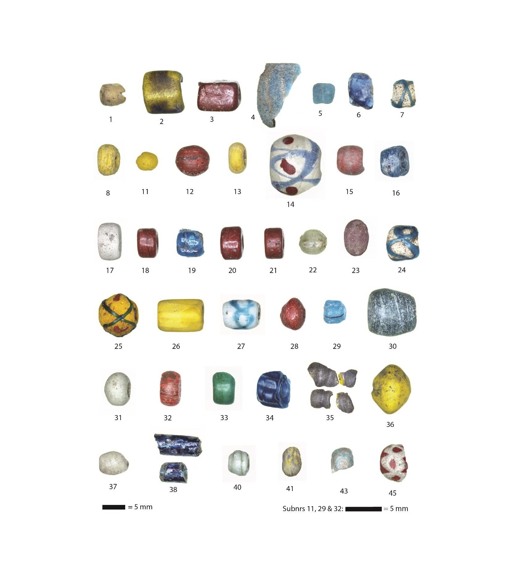 Merovingian beads Oegstgeest 4