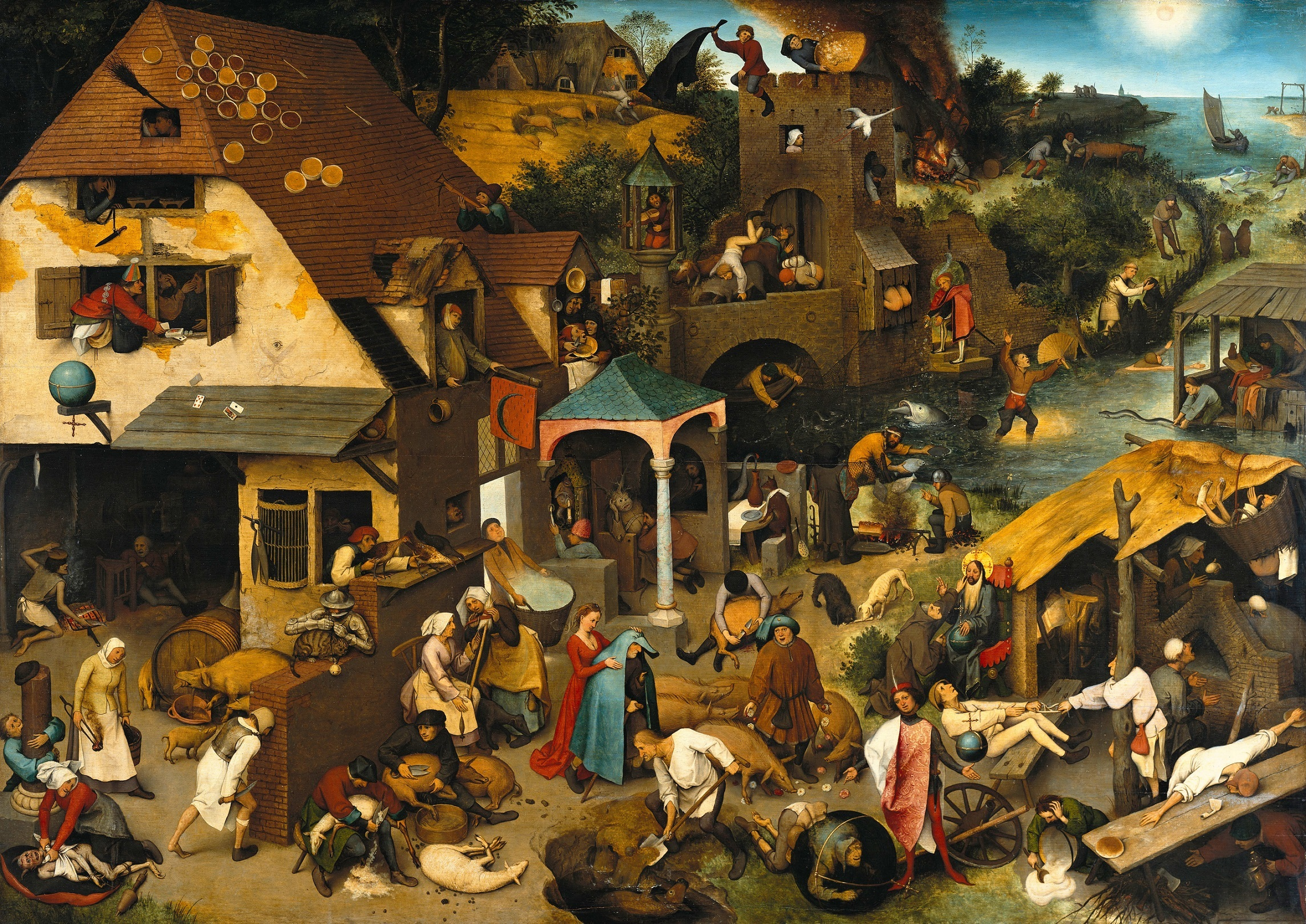 Pieter Brueghel the Elder The Dutch Proverbs Google Art Project kleiner