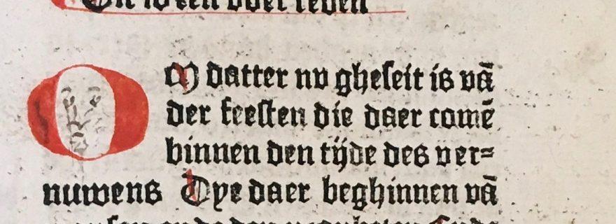 Why did Antonio de Nebrija draw faces into a Dutch book from 1480?