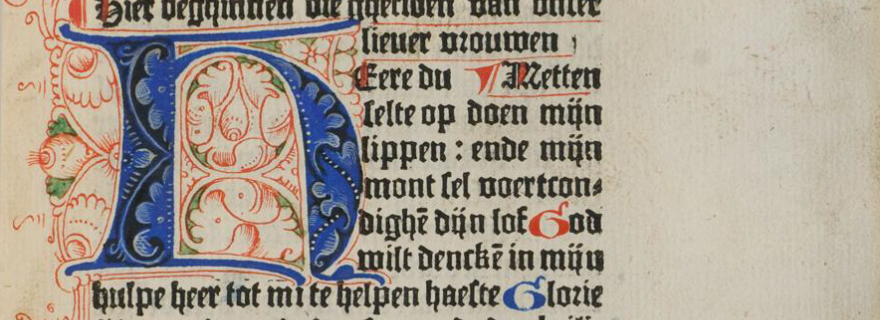 Following French Fashion: The Dutch Book of Hours in Print