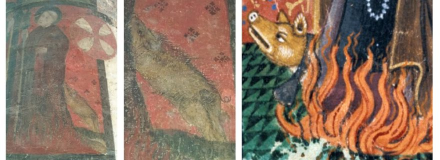 This pig is on fire: A late medieval pig in Leiden's Pieterskerk