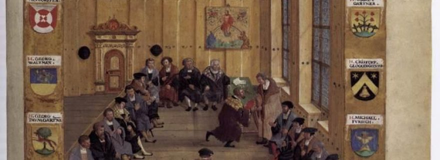 Daily life in the medieval town hall