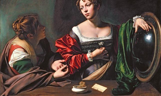 Renaissance Magdalene mirror comb face powder Caravaggio