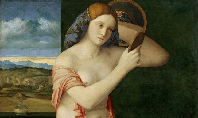 Renaissance woman mirror Bellini
