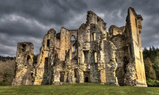 Old waldour castle medieval ruin medievalism