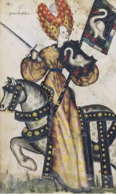 Penthesilea medieval woman