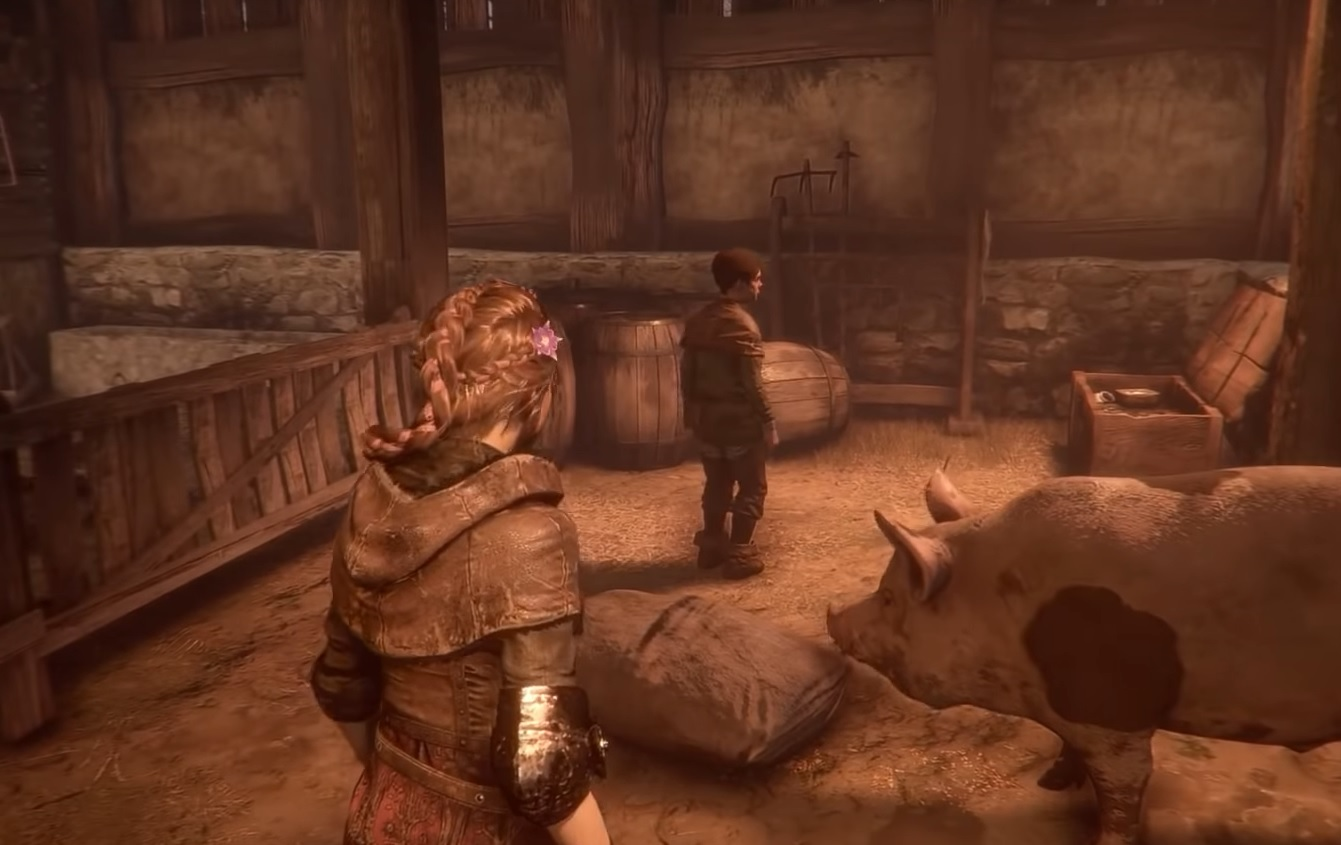 Image 1 a plague tale innocence screenshot pig